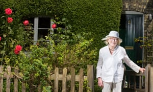 Home front: Jane at the Railway Cottages in north London.
