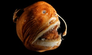 The deep sea anglerfish deploys bioluminescent bacteria in the tip of a long appendage.
