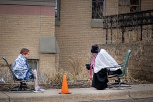 Shakopee, US The Rev. Erik Lundgren listens to confessions outside the Parish of Saints Joachim & Anne in Shakopee. Lundgren would normally be holding a day of confessions for hundreds of Catholic schoolchildren and parishioners to celebrate the Feast of the Annunciation