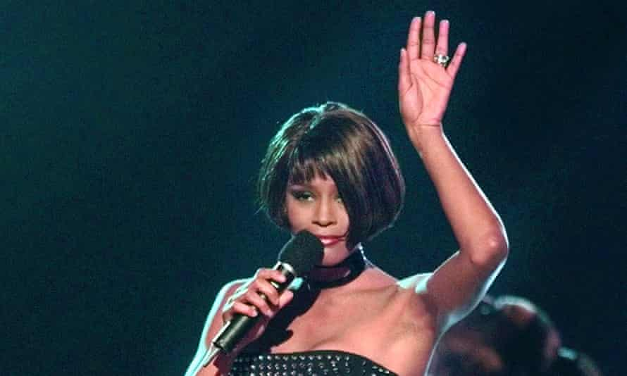 'Greatest voice of the last 50 years' ... Whitney Houston performing in 1999.