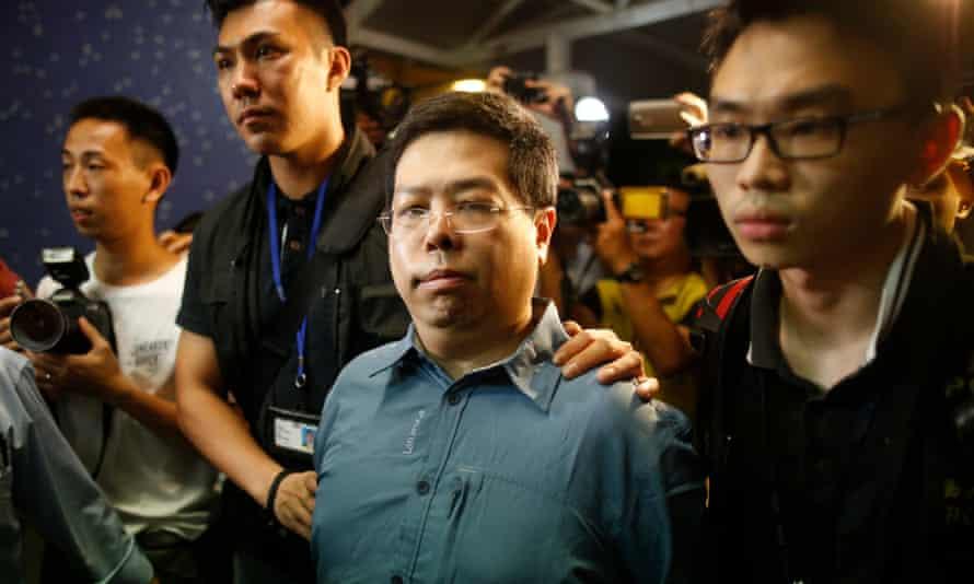 Howard Lam  under arrest in Hong Kong.