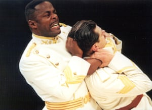 Paterson Joseph as Othello and Andy Serkis as Iago in a five-star production of Othello directed by Braham Murray.