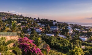'We made our way through some of the more wealthy suburbs': Kingston, Jamaica – scene of the marathon.