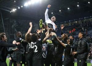 John Terry enjoys the celebrations.