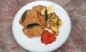'We're out of veal': chicken schnitzel.