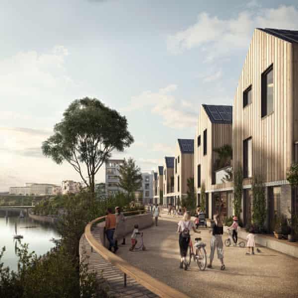 A render of the Riverside Sunderland masterplan.
