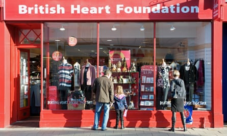A British Heart Foundation charity shop.