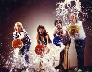 Tiswas with (from left) Chris Tarrant, Sally James, Bob Carolgees and John Gorman.