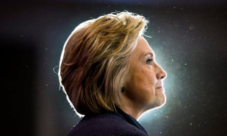 On the trail: Hillary Clinton campaigning for the American presidency.