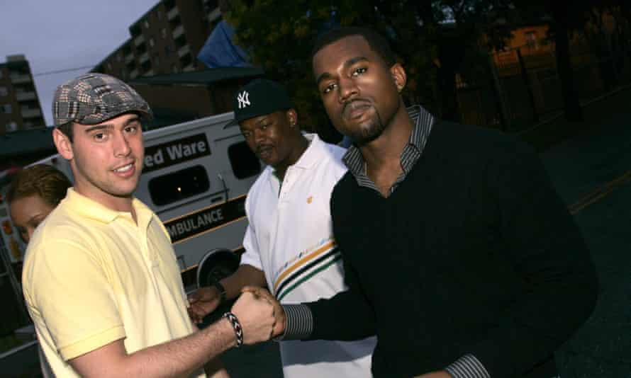 Old friends … Braun with Kanye West in 2005.