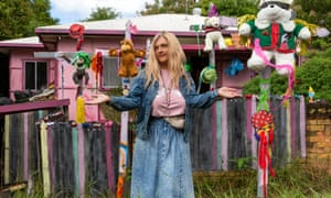 Joyce Jefferies, an ageing former porn star who loves to collect things, in Chris Lilley's Lunatics