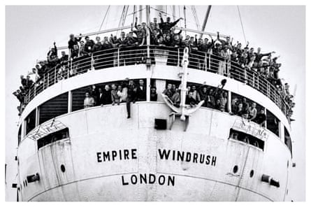 Empire Windrush on arrival at the Port of Tilbury on 22 June 1948.