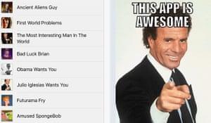 MemeCrunch's Meme Generator app, which brings joy to the day.