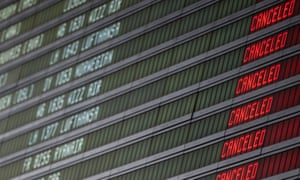 Cancellations at an airport