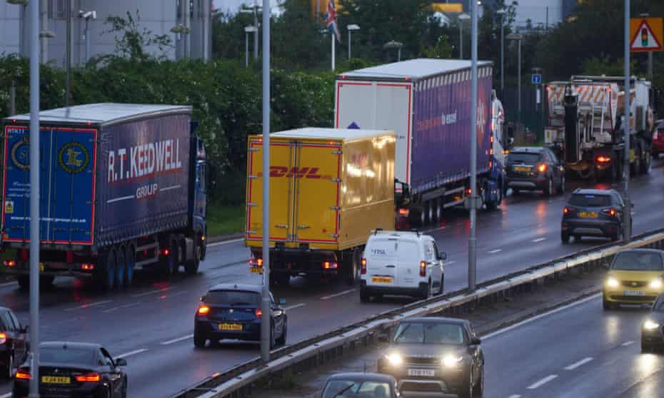 Lorry drivers on the North Circular at rush hour.