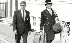 John Moore, left, at the 1988 Conservative party conference in Brighton.