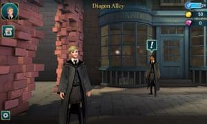A screenshot from Harry Potter: Hogwarts Mystery.