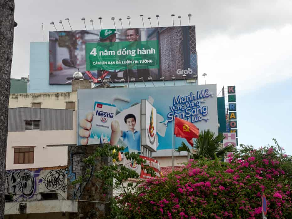 Milk adverts in Ho Chi Minh City