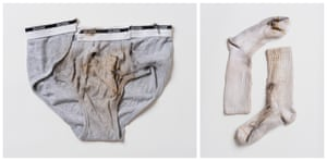 Underwear worn by Jaime Santana and socks worn by Justin Gauger when they were struck by lightning