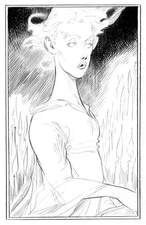 The Angel Islington from Chris Riddell's illustrated edition of Neil Gaiman's Neverwhere