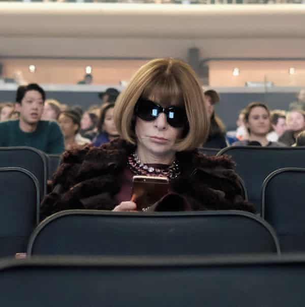 Editor-in-chief of American Vogue, Anna Wintour, in the audience.