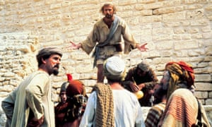 Nothing sacred … John Cleese, left, and Graham Chapman, centre, in Monty Python's Life of Brian, 1979
