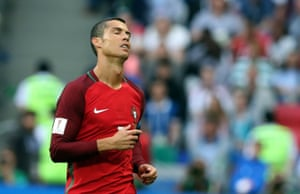 Cristiano Ronaldo cuts a frustrated figure