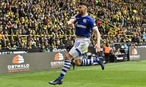 Schalke's Daniel Caligiuri impressed in the victory over Dortmund.