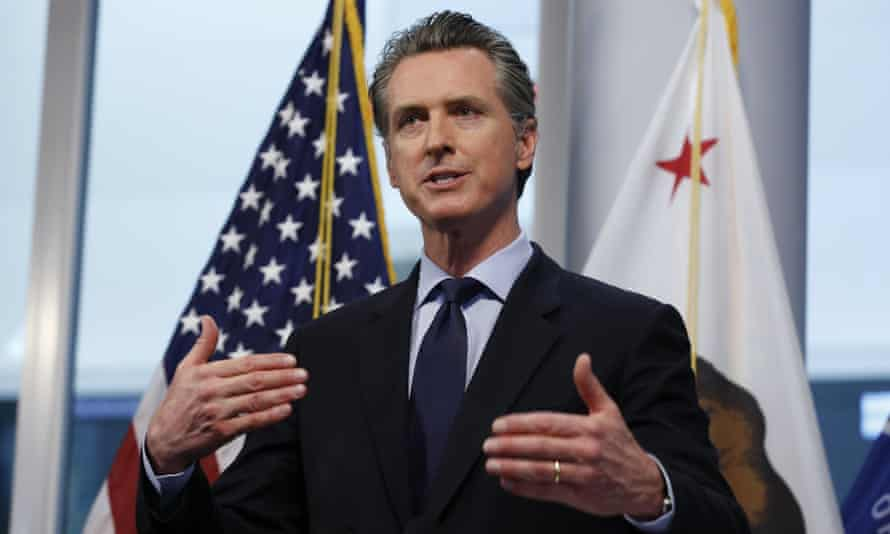 Gavin Newsom, the governor of California, has been lauded by many, including Donald Trump, for his response to the coronavirus crisis in his state.
