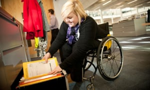 The government has promised to halve the employment gap for disabled people.