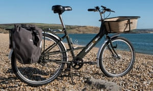 elephant bike pictured on a stony beach readty to be ridden
