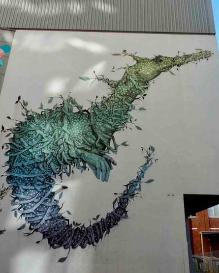 Street art by Puerto Rican artist Alexis Diaz in Wolf Lane