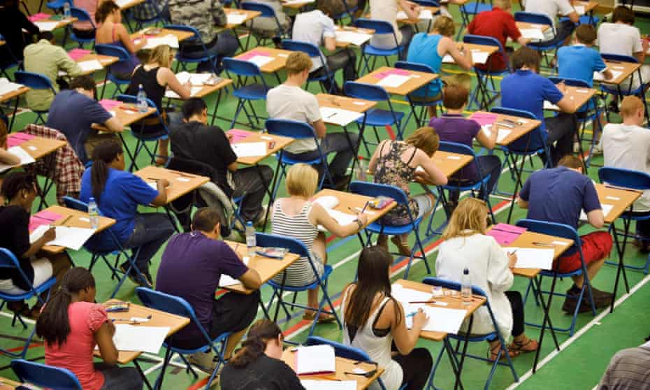 Students in exam hall