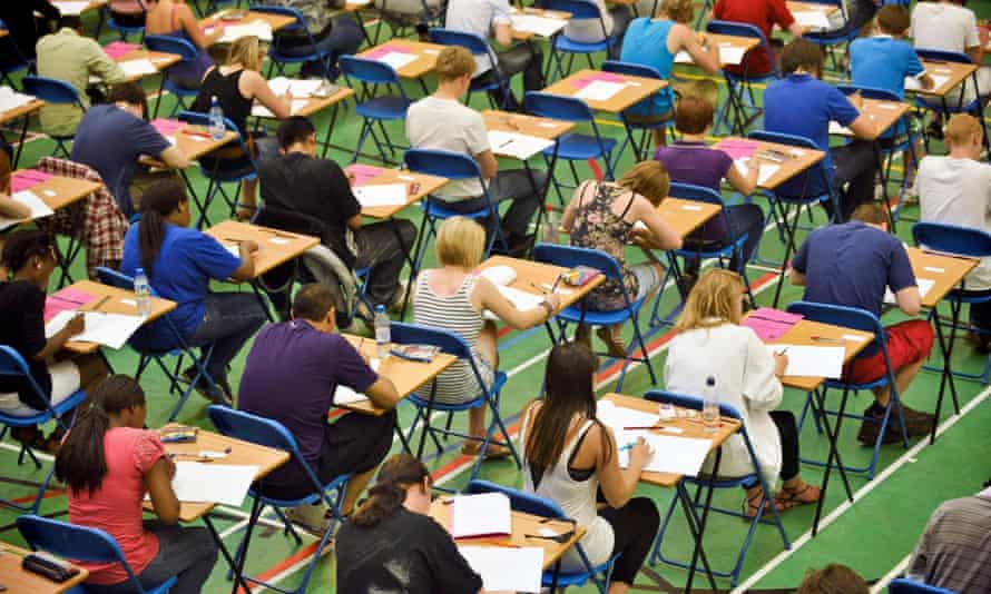 Students taking A-level exams