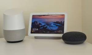 The Google Home Hub.
