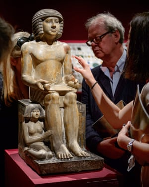 Bad deal … The Northampton Sekhemka at Christie's auction house in London.