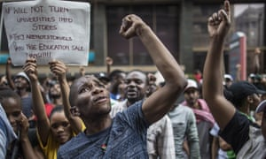 south african student protest