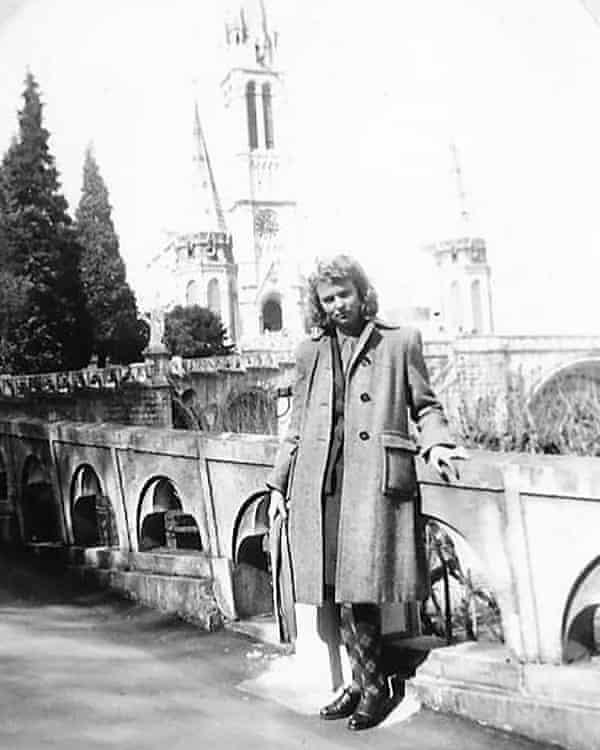 Janine de Greef visiting Lourdes in 1945