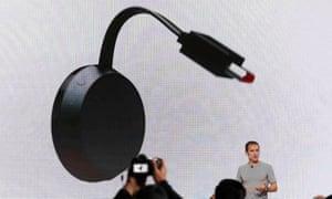 Mario Queiroz introduces the Google Chromecast Ultra.