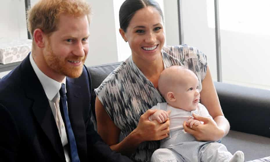 The Duke and Duchess of Sussex and their baby son, Archie.