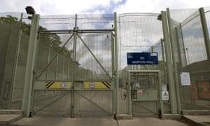 Morton Hall Immigration Removal Centre in Lincolnshire.