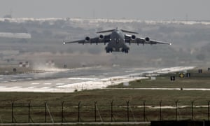 A US airforce plane takes off from Incirlik airbase in Turkey two years ago.