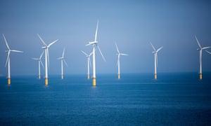 Teesside Wind Farm just off the North Yorkshire coast.