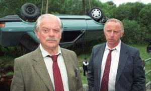 David Jason, left, as DI Jack Frost and John Lyons as DS George Toolan in a 2003 episode of A Touch of Frost.