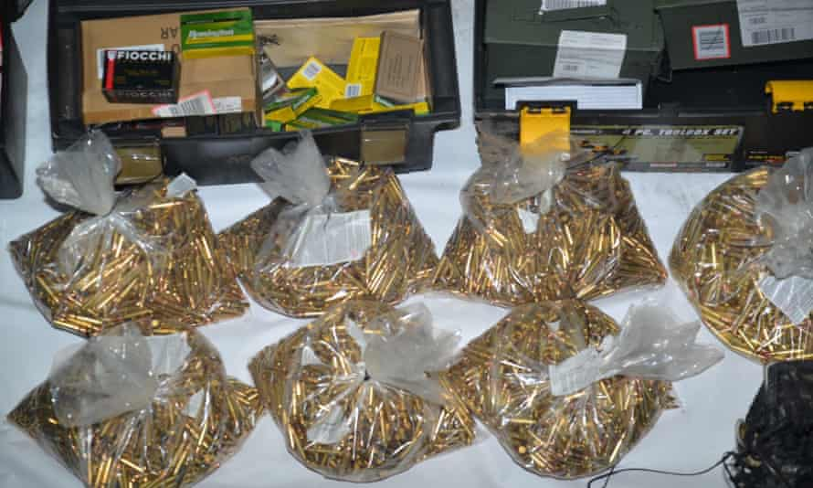Approximately 22,000 rounds of ammunitions found at the residence of Samuel Cassidy.