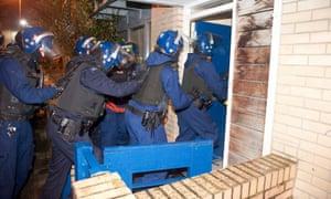 Police raid.