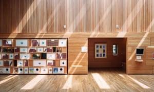 Interactive story wall at the Scottish Storytelling Centre, Edinburgh.