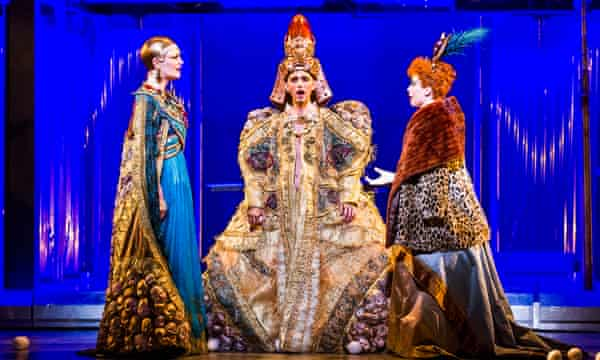 Emma Carrington, Anthony Roth Costanzo and Rebecca Bottone in Philip Glass's Akhnaten, which played to almost 16,000 audience members.
