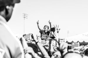 A fan in the crowd at this year's Vans Warped tour