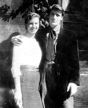 Sylvia Plath and Ted Hughes on honeymoon in Paris